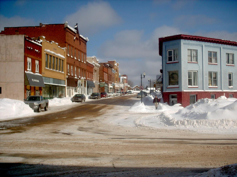 <b>East Iron Street (winter)</b> - The same as the previous shot only the middle of winter. As of the date this photo was taken we'd had about 183 inches of snow so far for the season with a snowdepth right around 40 inches or so. Fairly average for that time of year. 3-2-05