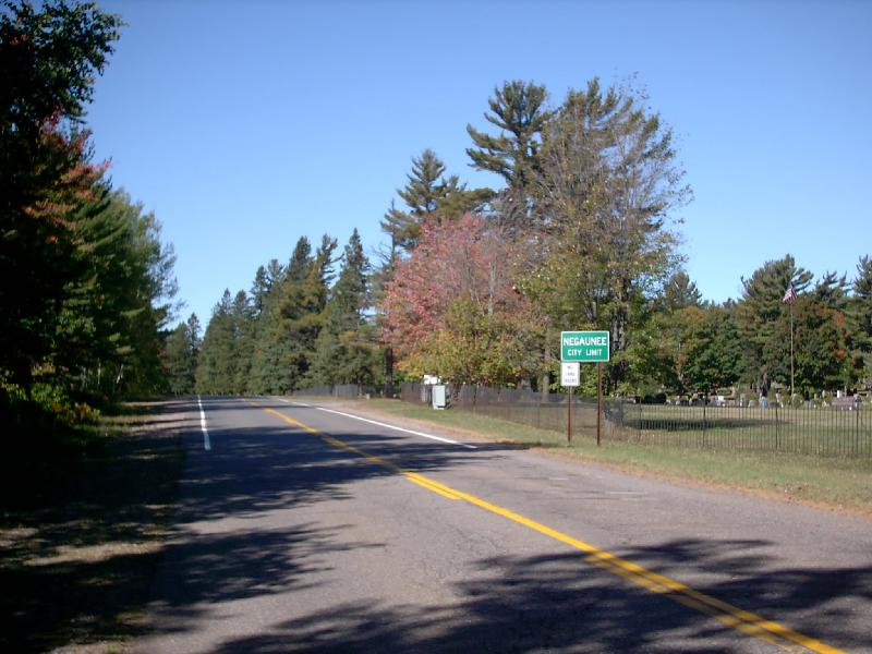 <b>County Road 492</b> - You pass the Negaunee Cemetary on the right heading into town from this direction.
