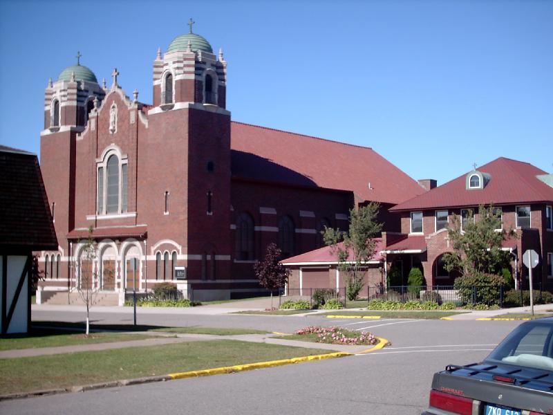 <b>St. Paul Catholic Church</b> - Case Street, Downtown Negaunee