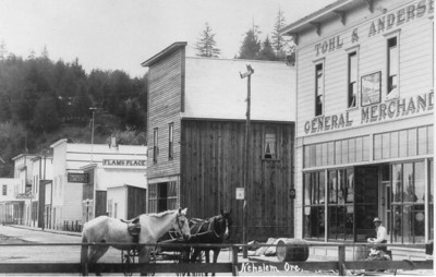 Near the turn of the century, the Tohl store moved into larger quarters along today's main street.