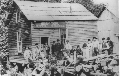 The Tohl store, probably in Uppertown, sold flour, whiskey, coffee, tea, tobacco, tools and other supplies from the outside world.