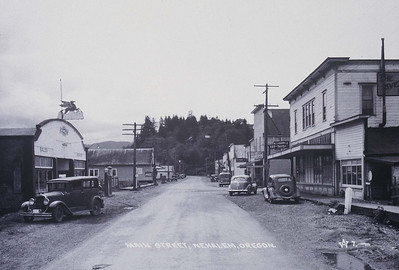Looking south on Main Street in the 1930s.