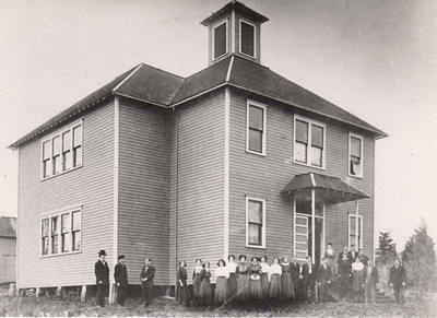 High school in Uppertown built in 1908.