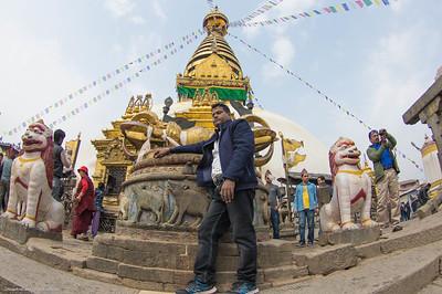 Swayambhunath  Temple Pose,  Kathmandu