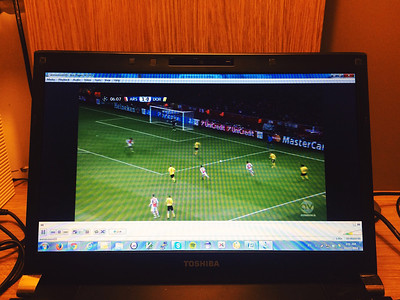 Nice to be able to watch Champions League just after dinner :)