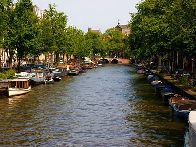 On the canal in Amsterdam