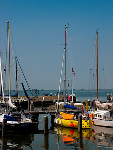 Boats in Marken Harbour