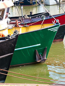 Boats in Volendam Harbour