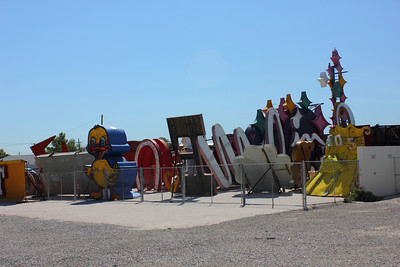 Tours are conducted at Noon - The harshest worst light for photos! The Neon Boneyard in Las Vegas. September 2011.