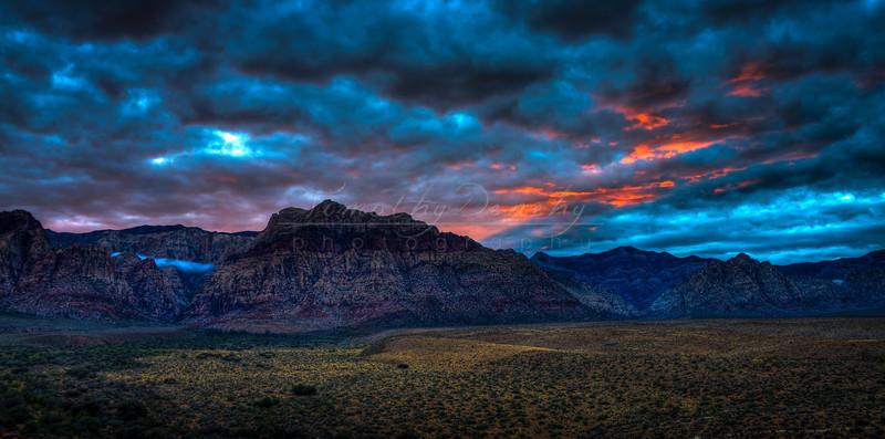 Redrock Nevada Bluehour