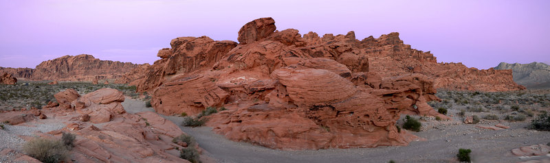 Dusk at Valley of Fire, Nevada.