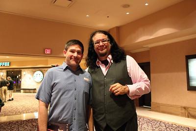 Rich and Penn Jillette after their show at the Rio. September 2011.