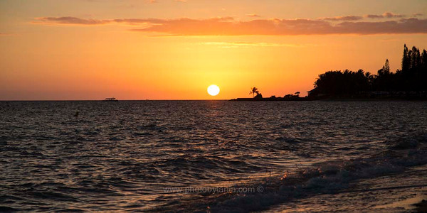 Sunset at Anse Vata, Noumea, New Caledonia.