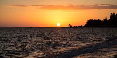 Sunset at Anse Vata, Noumea, New Caledonia.