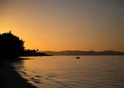 Morning sunrise at plage La Poe, New Caledonia.