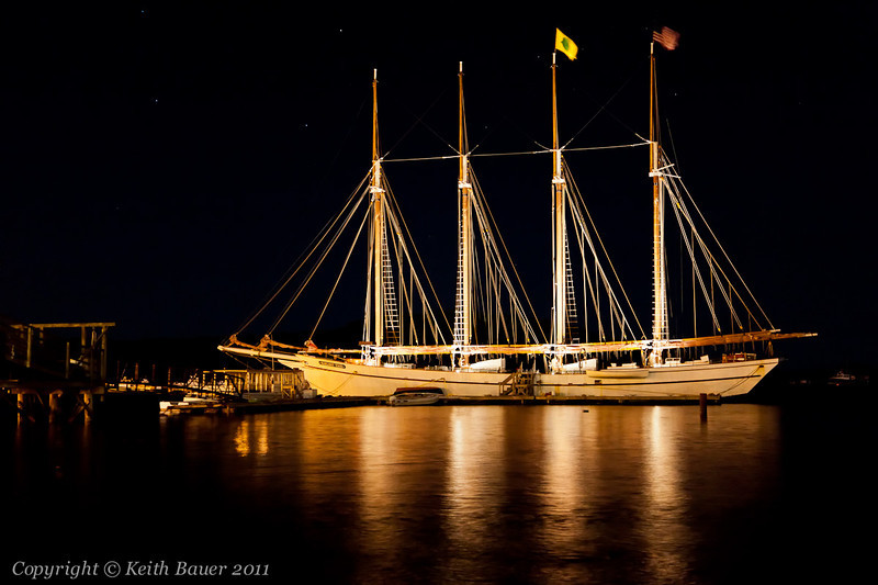 The Margaret Todd at night