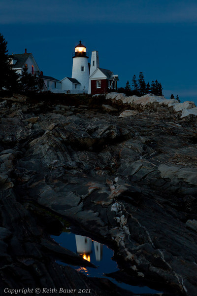 Pemaquid Point Lighthouse - Late Evening Reflection