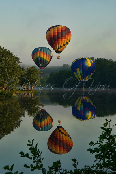 Early morning launch at the Pittsfield NH Balloon Festival
