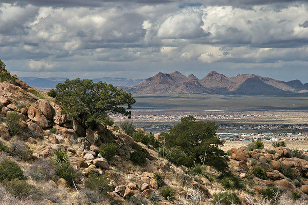 Looking west from the Organ Mountains; Las Cruces, NM