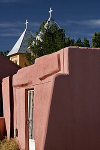 View of the church steeples; Mesilla, New Mexico