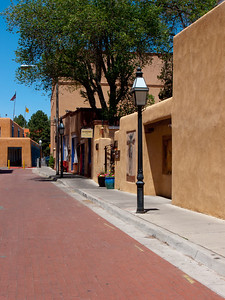 Side street in downtown Santa Fe