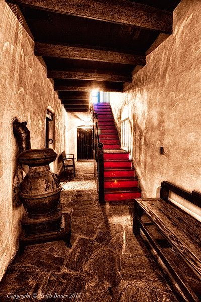 The Hall at the Los Luceros Mansion