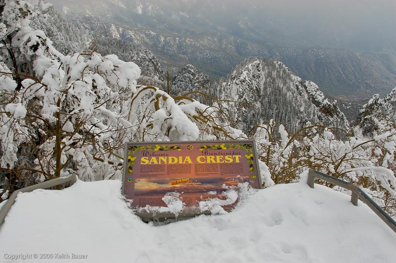 Sandia Crest after a nice snow