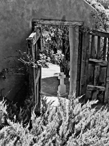 Courtyard entrance B&W
