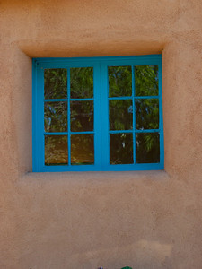 Blue window in adobe