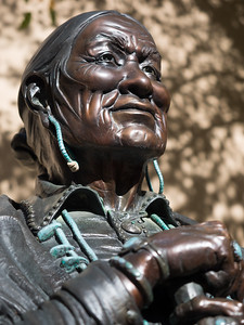 Statue at Millicent Rogers Museum, Taos, NM