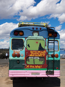 Coffee bus outside Rio Grande Gorge