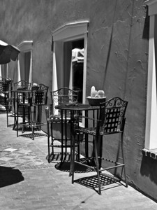 Cafe in Santa Fe B&W