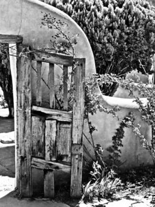Door is ajar B&W