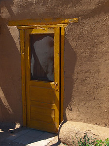 Yellow door in Taos