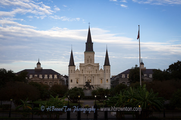 St. Louis Cathedral in Early Morning Light
