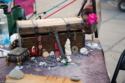 A street vendors wares