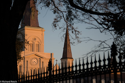 Saint Louis Cathedral adjacent to Jackson Square in the early morning light