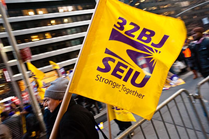 Service Employees International Union demonstration