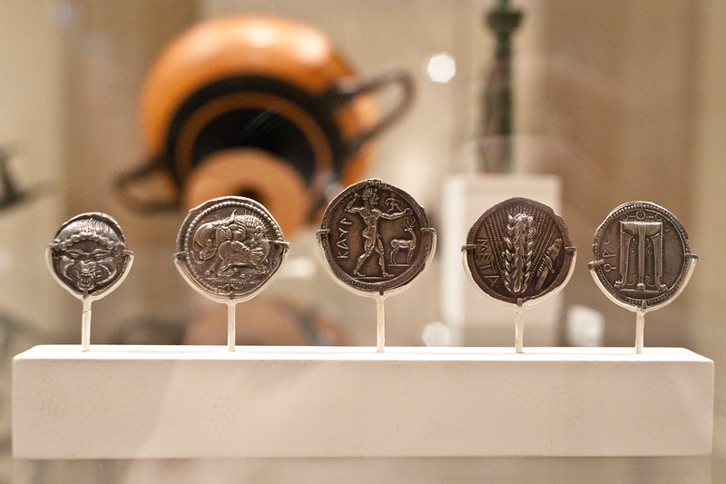 ancient coins  at the Metropolitan Museum of Art