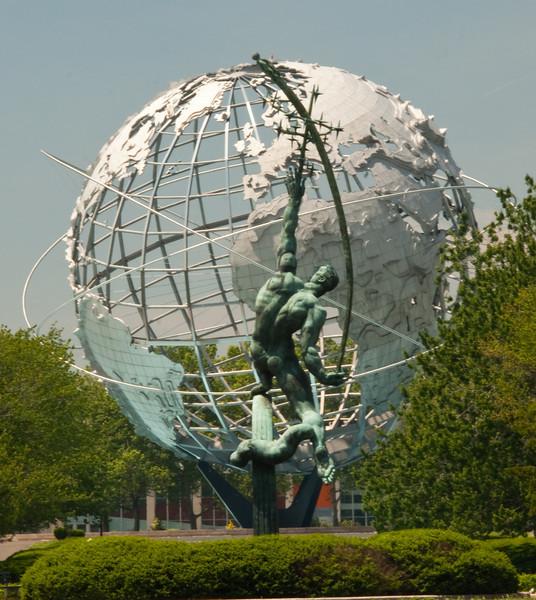 Statue & Sphere
