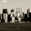 Liberty Island<br /> View of NYC from Statue