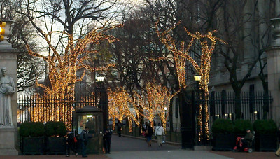 Christmas lights at Columbia, New York, NY