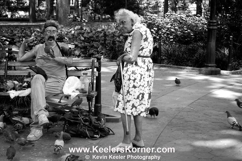 Pigeon Man in Washington Square Park