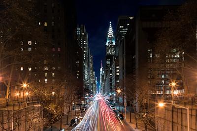 New York; Cityscape; Lights; Nightscape; NY; Chrysler building