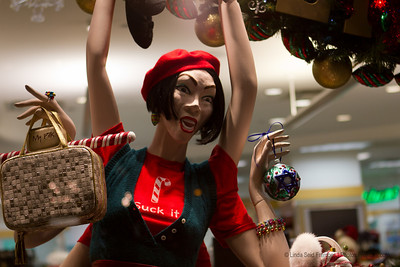 This six-armed mannequin was my favorite holiday window. Saks has nothing on this drug store. - December 2011