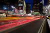 Cabs race past Macy's, NYC<br /> ref: e907e88b-2333-47e1-9d4e-a161cbb1c29f