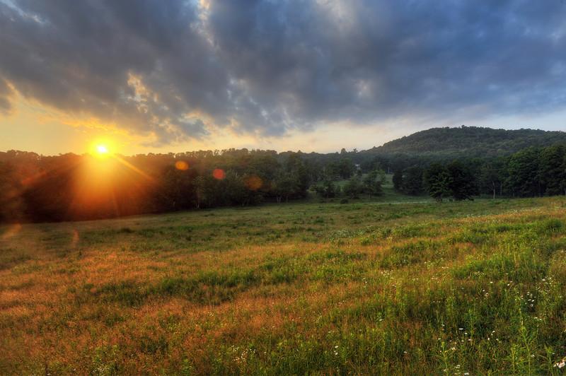 Sunset on Margaretville Mountain