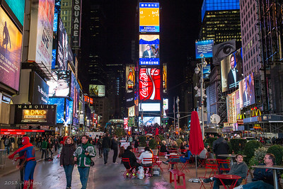 Evening at Times Square, New York