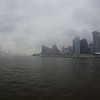 Lower Manhattan (right),and New Jersey (left) from the Staten Island Ferry.