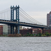 Manhattan Bridge,entering Brooklyn.